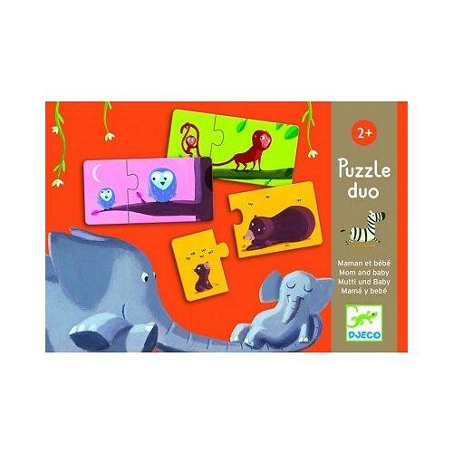 Djeco 2 Puzzles - Mama und Baby 10 Teile Puzzle Djeco-08157