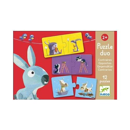 Djeco 12 Puzzles - Duo der Gegensätze 12 Teile Puzzle Djeco-08162