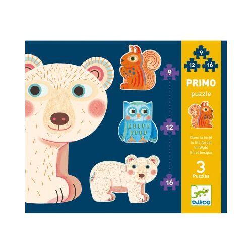 Djeco 3 Puzzles - Im Wald 9 Teile Puzzle Djeco-07143
