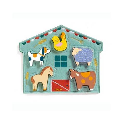 Djeco Holzpuzzle - Mowy 5 Teile Puzzle Djeco-01055