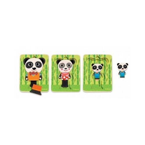 Djeco Holzpuzzle - Panda 6 Teile Puzzle Djeco-01471