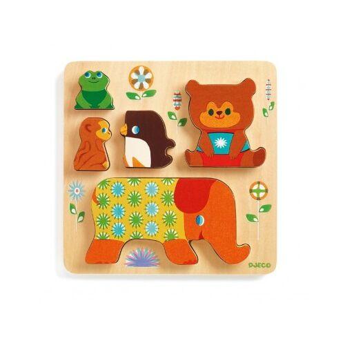 Djeco Holzpuzzle - Woodypile 5 Teile Puzzle Djeco-01056