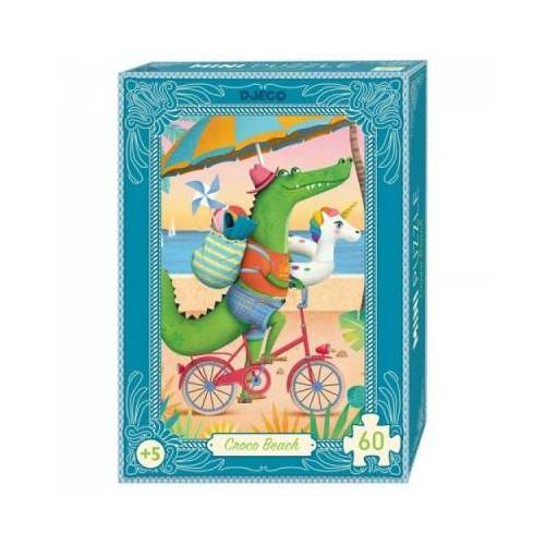 Djeco Mini Puzzle - Croco Beach 60 Teile Puzzle Djeco-07678