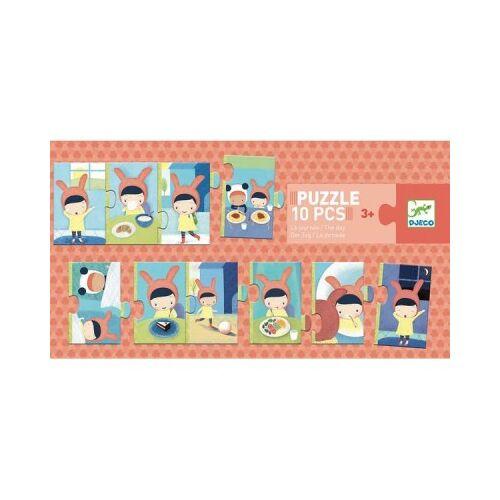 Djeco Der Tag 10 Teile Puzzle Djeco-08179