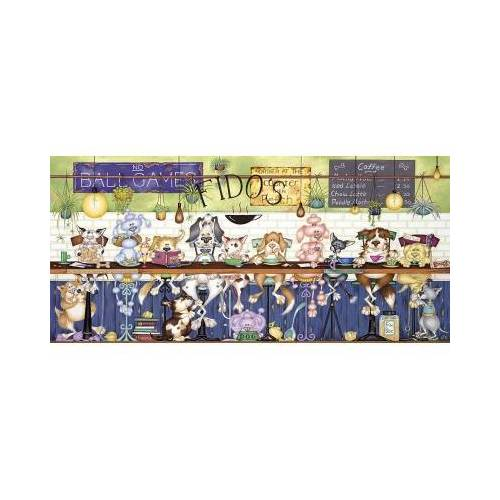 Gibsons Fido's Coffee Bar 636 Teile Puzzle Gibsons-G4049