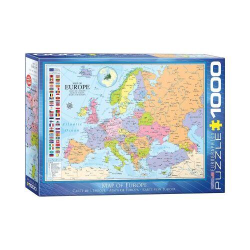 Eurographics Karte von Europa 1000 Teile Puzzle Eurographics-6000-0789