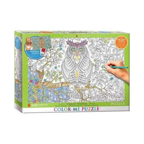 Eurographics XXL Color Me - Eule 500 Teile Puzzle Eurographics-6055-0887