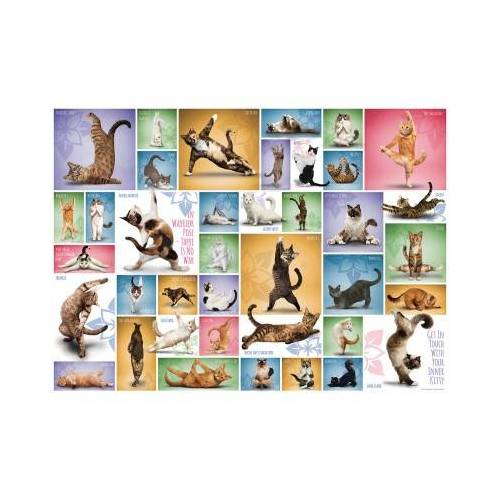 Eurographics Yoga Cats 1000 Teile Puzzle Eurographics-6000-0953