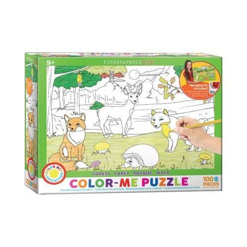 Eurographics Color-Me Puzzle - Wald 100 Teile Puzzle Eurographics-6111-0891