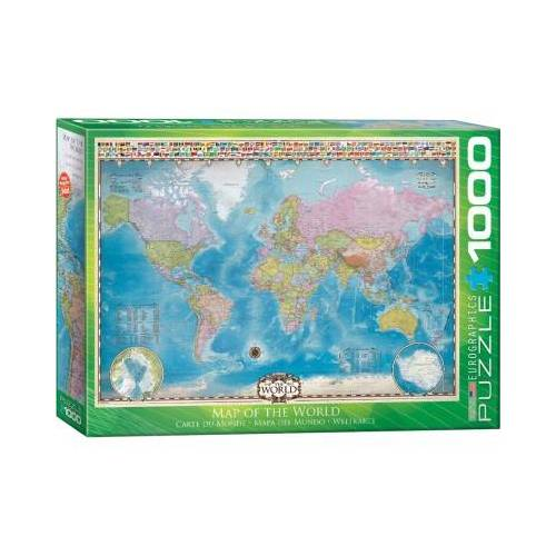 Eurographics Map of the World 1000 Teile Puzzle Eurographics-6000-0557