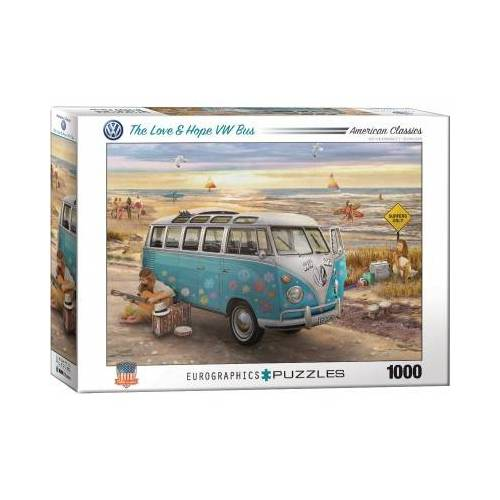 Eurographics The Love & Hope VW Bus 1000 Teile Puzzle Eurographics-6000-5310