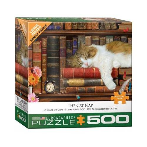 Eurographics XXL Teile - The Cat Nap 500 Teile Puzzle Eurographics-6500-5545