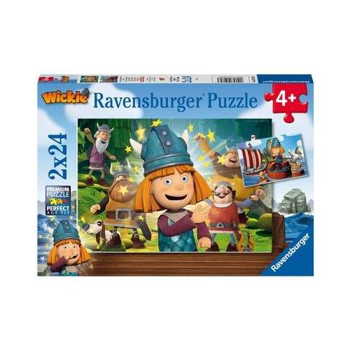 Ravensburger 2 Puzzles - Wickie 24 Teile Puzzle Ravensburger-05070