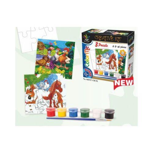 DToys Kreativ-Kit zur Herstellung eines Puzzles 6 Teile Puzzle Dtoys-68347-CM-01