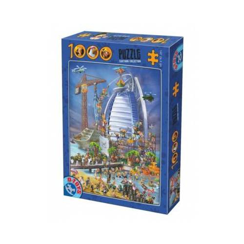 DToys Cartoon Collection - Burj Al Arab 1000 Teile Puzzle Dtoys-74690