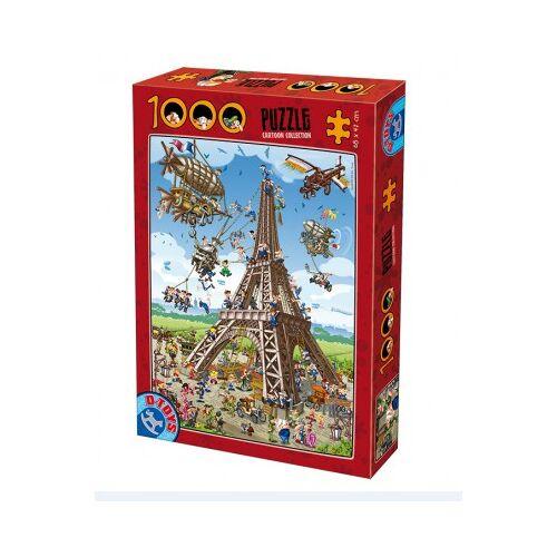 DToys Cartoon Collection - Eiffelturm 1000 Teile Puzzle Dtoys-74683