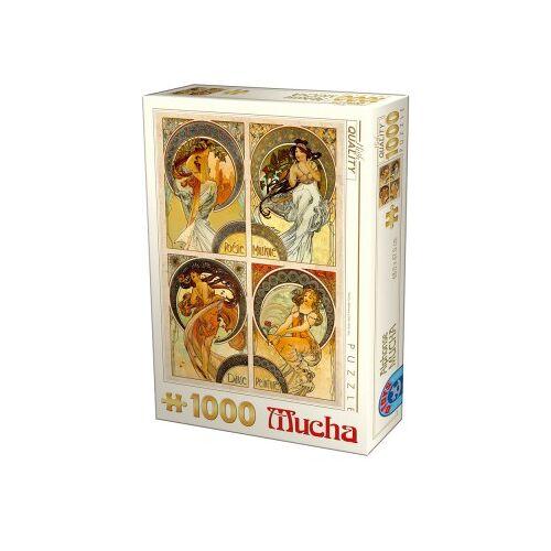 DToys Mucha - Kunst 1000 Teile Puzzle Dtoys-75895