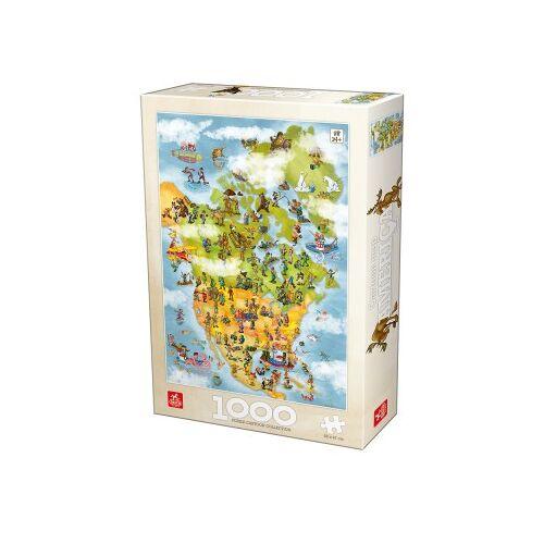 DToys Cartoon Collection - USA 1000 Teile Puzzle Deico-Games-76779