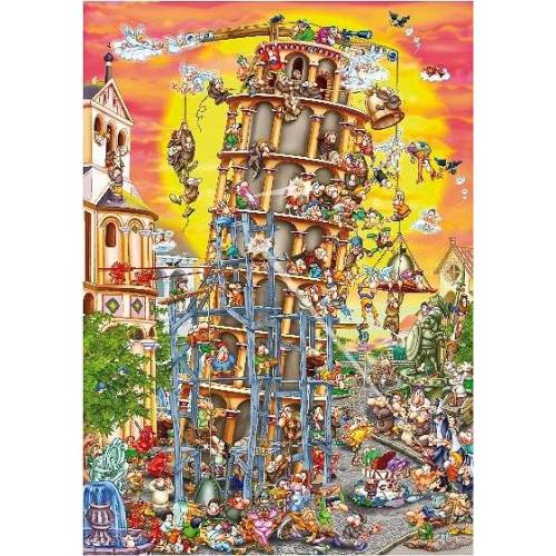 DToys Cartoon Collection: Der schiefe Turm von Pisa, Italien 1000 Teile Puzzle Dtoys-61218