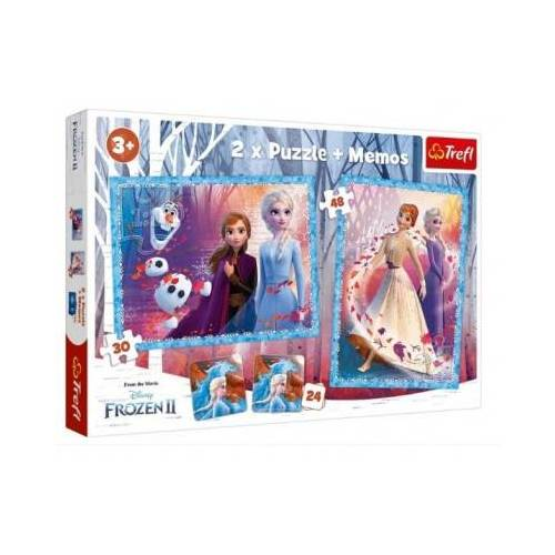 Trefl 2 Puzzles + Memo - Frozen 30 Teile Puzzle Trefl-90814