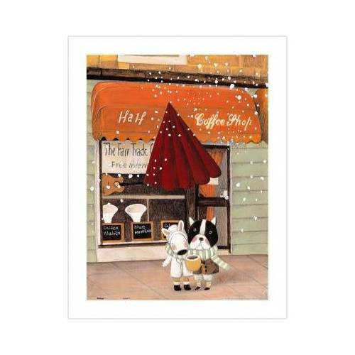 Pintoo Puzzle aus Kunststoff - Nan Jun - Half - Coffee Shop 300 Teile Puzzle Pintoo-H1708