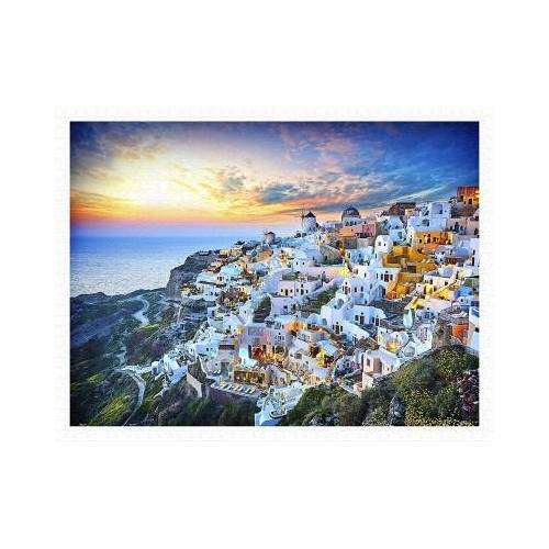 Pintoo Puzzle aus Kunststoff - Beautiful Sunset of Greece 1200 Teile Puzzle Pintoo-H2073