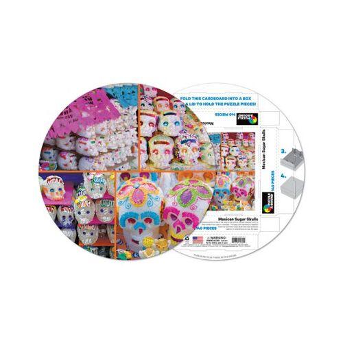Pigment & Hue, INC Fertiges Rundpuzzle - Totenköpfe in Zucker 140 Teile Puzzle Pigment-and-Hue-RSUGAR-41309