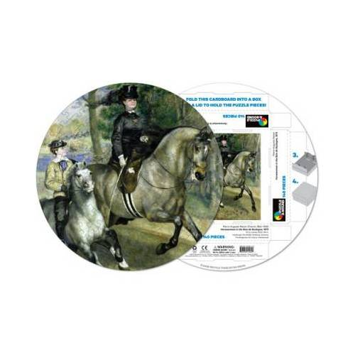 Pigment & Hue, INC Fertiges Rundpuzzle - Pierre Renoir: Femme à cheval 140 Teile Puzzle Pigment-and-Hue-RRENR-41205