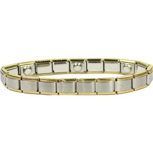 Magnet Armband weiß / gelb 19 cm