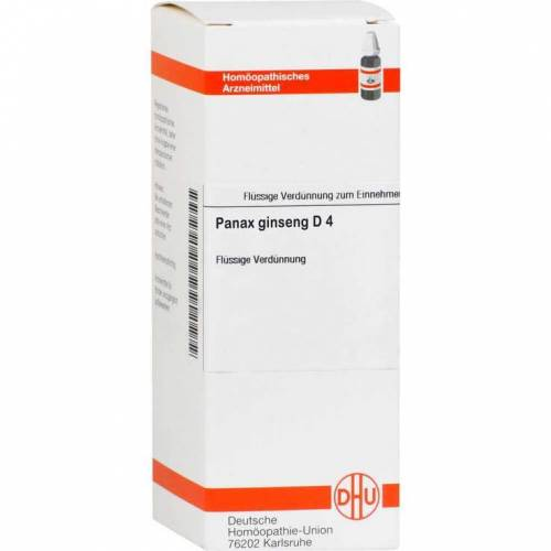 DHU Panax Ginseng D 4 Dilution