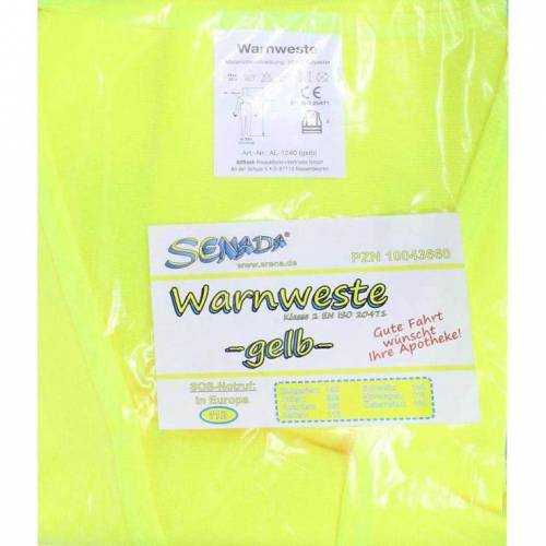 Senada Warnweste gelb im Beutel