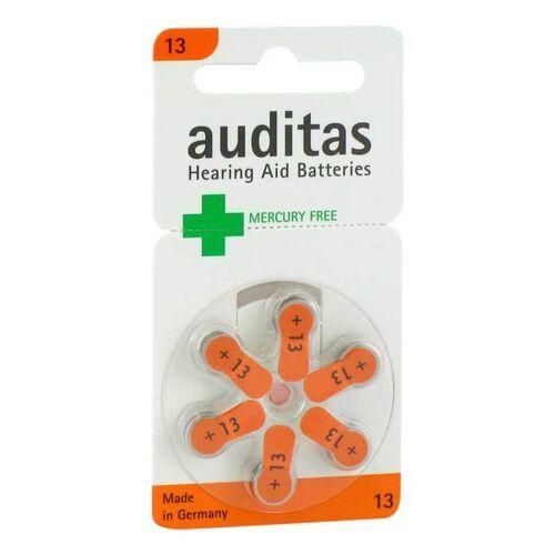 Auditas Hörgerätebatterie 13 Quecksilber frei