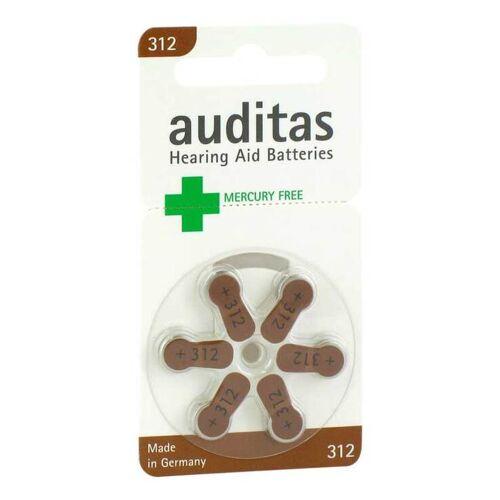 Auditas Hörgerätebatterie 312 Quecksilber frei