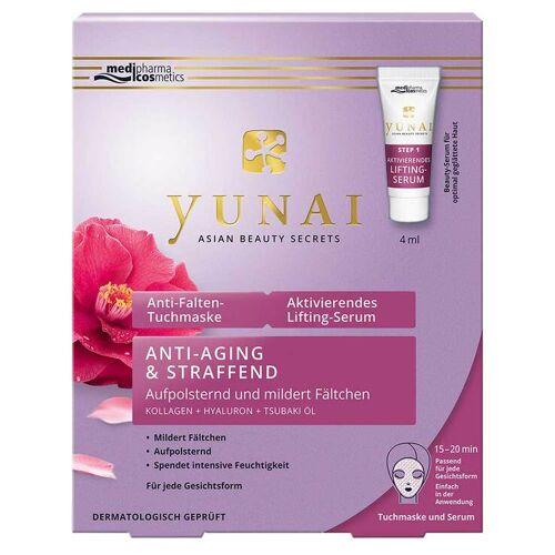 Yunai Anti-Falten-Maske 25g + aktiv.Lifting-Ser.4ml