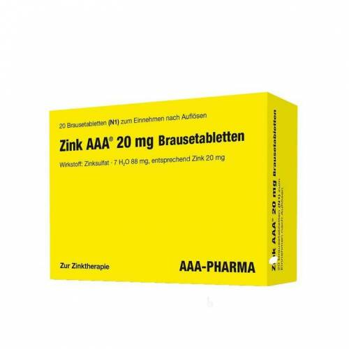 Zink AAA 20 mg Brausetabletten
