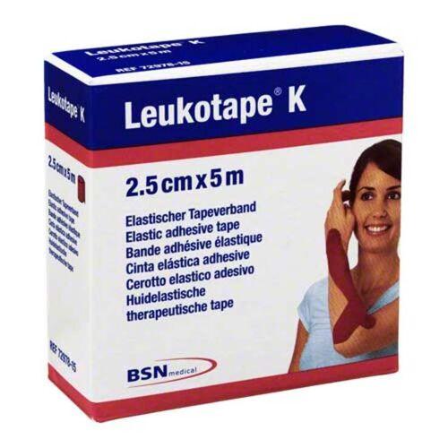 Leukotape K 2,5cm rot