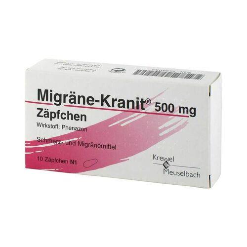 Migräne-Kranit Migräne Kranit 500 mg Zäpfchen