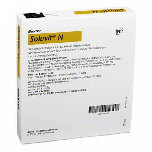 Baxter Soluvit N Trockensubstanz ohne Lösungsmittel