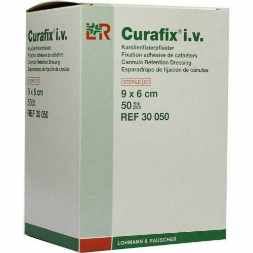 Curafix i.v. steril Pflaster 9x6cm