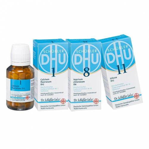 DHU Schüßler DHU Schüssler-Salze Haut-und-Haar-Kur Tabletten, 3x200