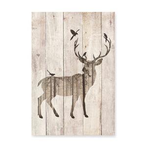 Surdic Wandbild Deer, B40 x H60 cm