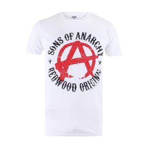 Sons OF Anarchy T-Shirt Anarchy, Rundhals, gerader Schnitt weiß