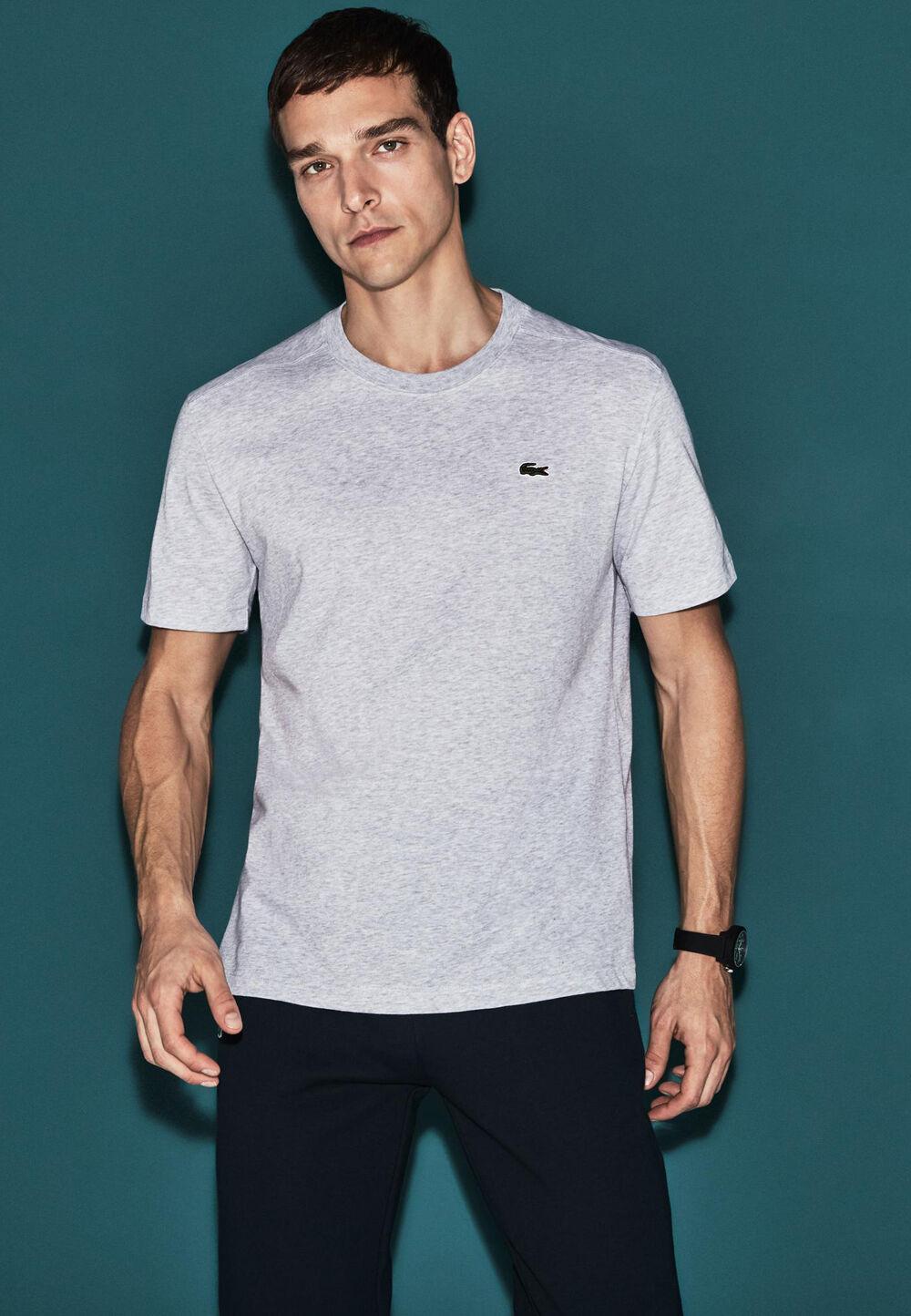 Lacoste T-Shirt, Rundhals grau