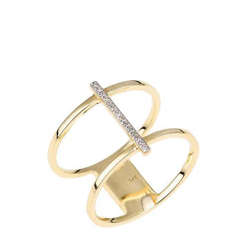 Diamant Exquis Ring, 375 Gelbgold, Diamant