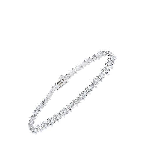 Diamant Exquis Armband, 375 Weißgold, Diamant silber