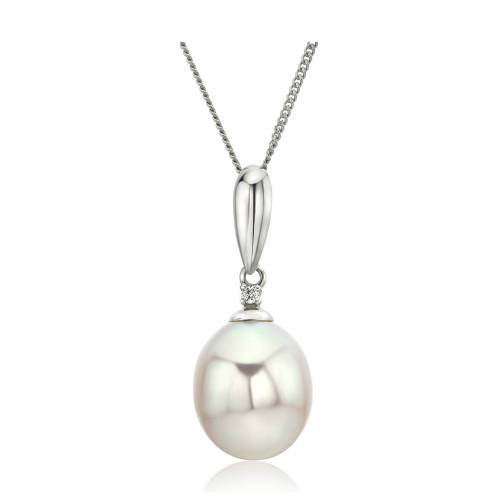 Diamant PUR Halskette, 375 Weißgold, Diamant silber