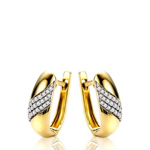 Diamant Exquis Ohrhänger, 585 Gelbgold, Diamant