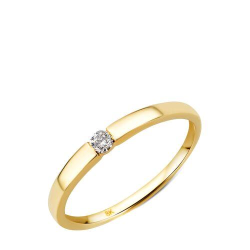 Diamant Exquis Ring, 333 Gelbgold, Diamant