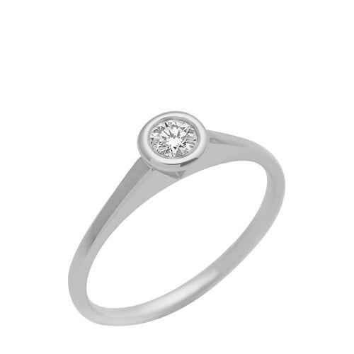 Diamant PUR Ring, 375 Weißgold, Diamant silber