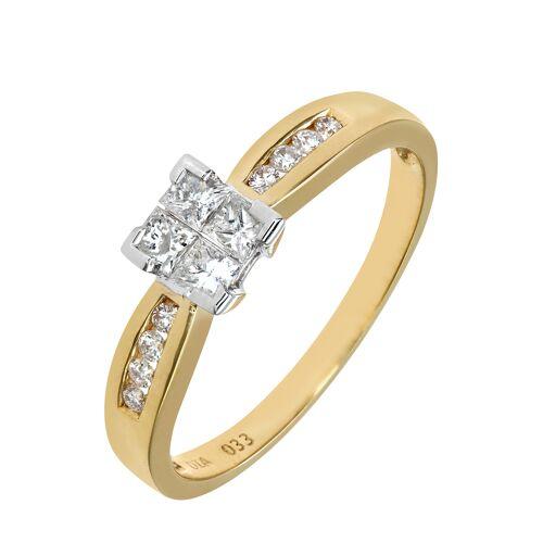 Diamant PUR Ring, 750 Gelbgold, Diamant